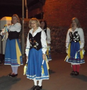 Morris dancers at Holcombe Wassail Jan 15