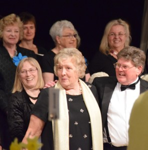 Anita and Michael Bartlett with Teignmouth Sings
