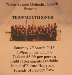 Ticket to Teignmouth Sings at the Palace Avenue Church